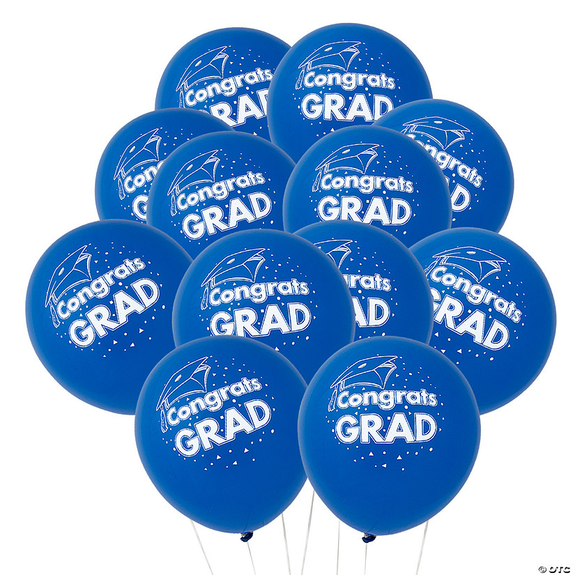 "Blue Congrats Grad 11"" Latex Balloons Audio Thumbnail"