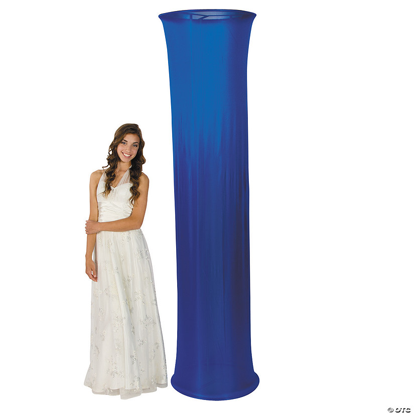 Blue Fabric Column Slip