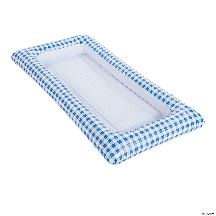 Blue Gingham Inflatable Buffet Cooler Audio Thumbnail