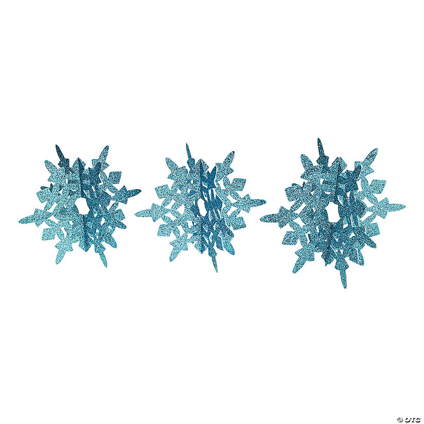Blue Glitter Snowflakes Centerpiece Audio Thumbnail