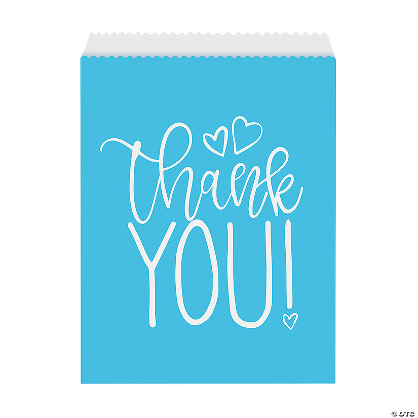 Blue Hearts Baby Shower Favor Bags Audio Thumbnail