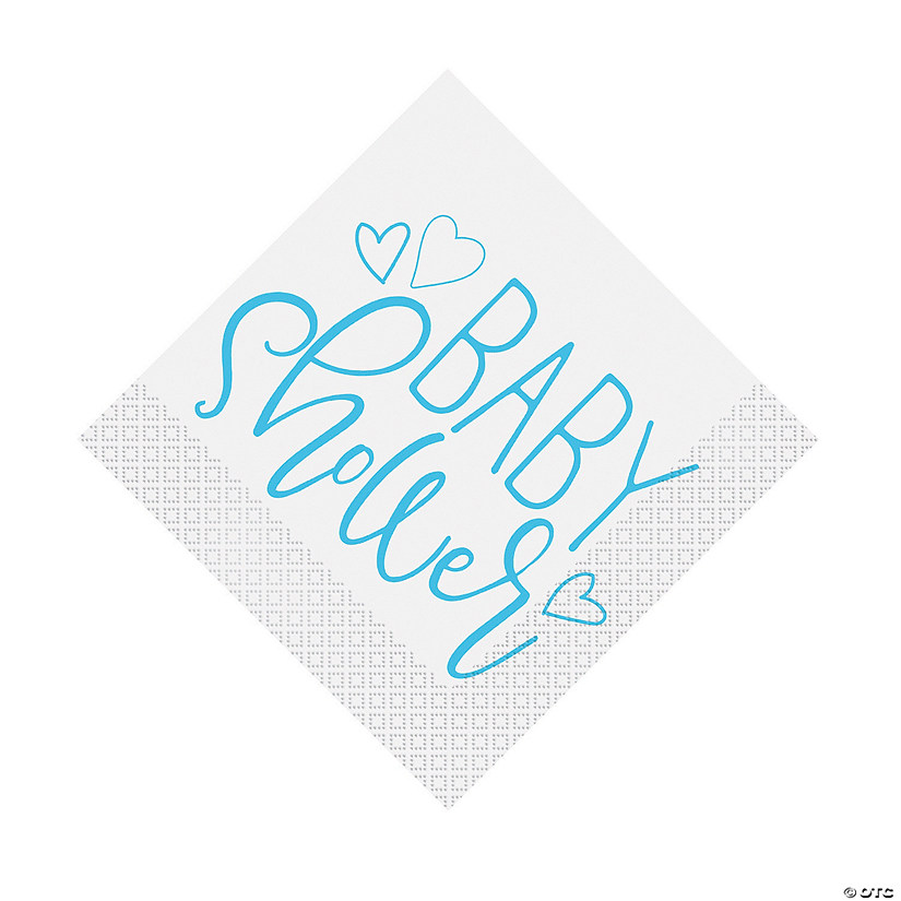 Blue Hearts Baby Shower Luncheon Napkins Audio Thumbnail
