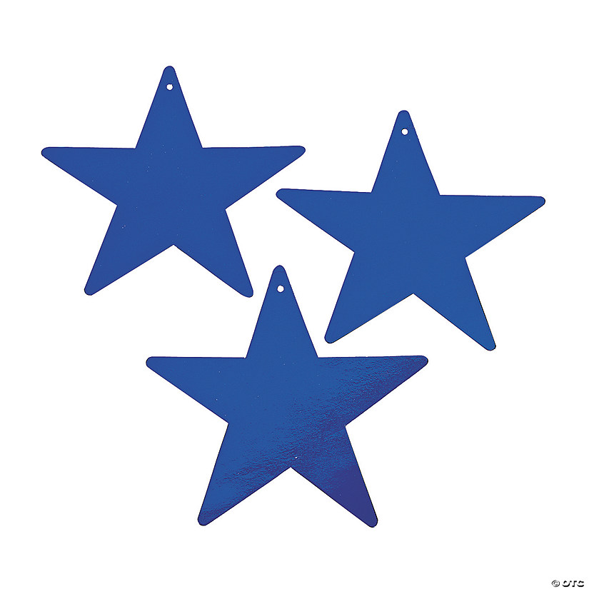 Blue Medium Metallic Stars Image Thumbnail