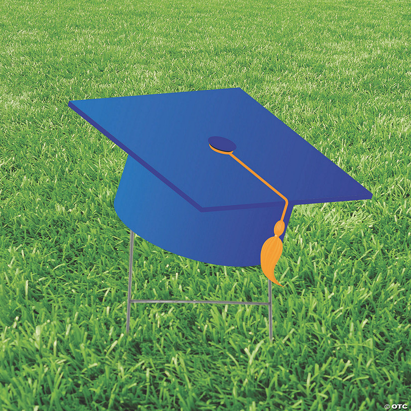Blue Mortarboard Hat Yard Sign Audio Thumbnail
