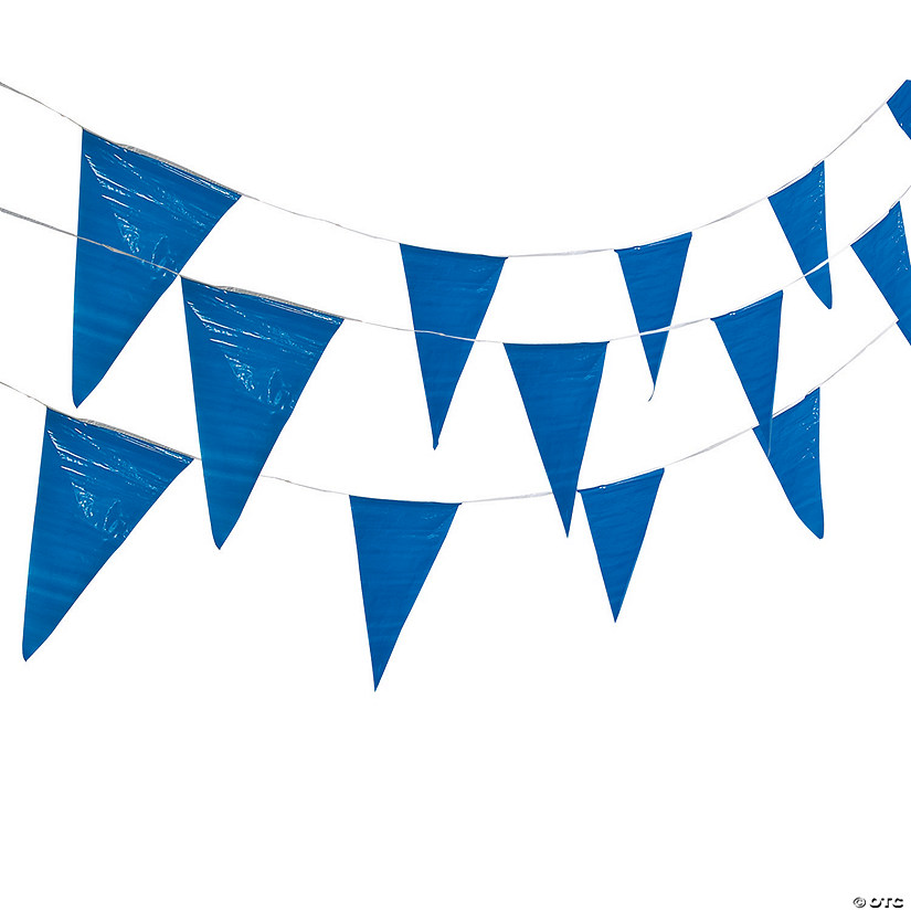 Blue Plastic Pennant Banner Image Thumbnail