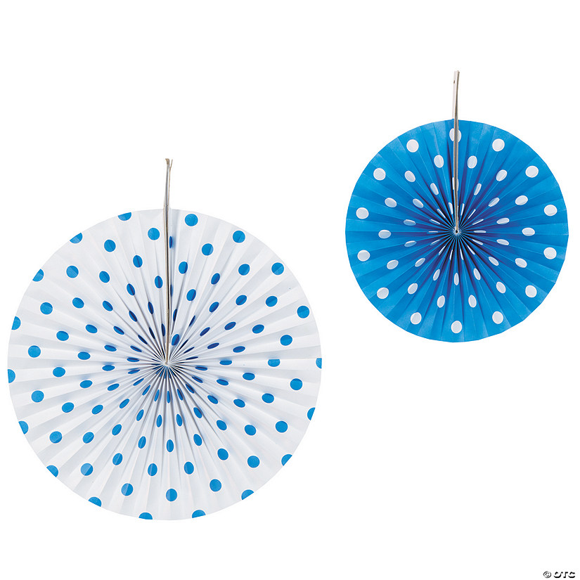 Blue Polka Dot Hanging Fans Audio Thumbnail