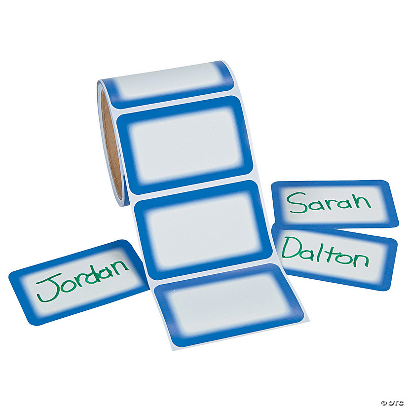 Blue Self-Adhesive Name Tags/Labels Audio Thumbnail