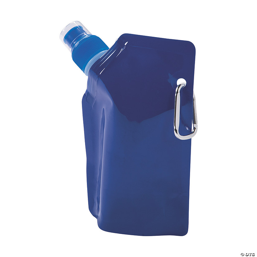 Blue Team Spirit Collapsible Water Bottles Image Thumbnail