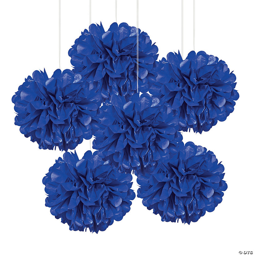 Blue Tissue Paper Pom-Pom Decorations Audio Thumbnail
