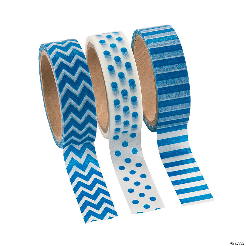 Blue Washi Tape Set