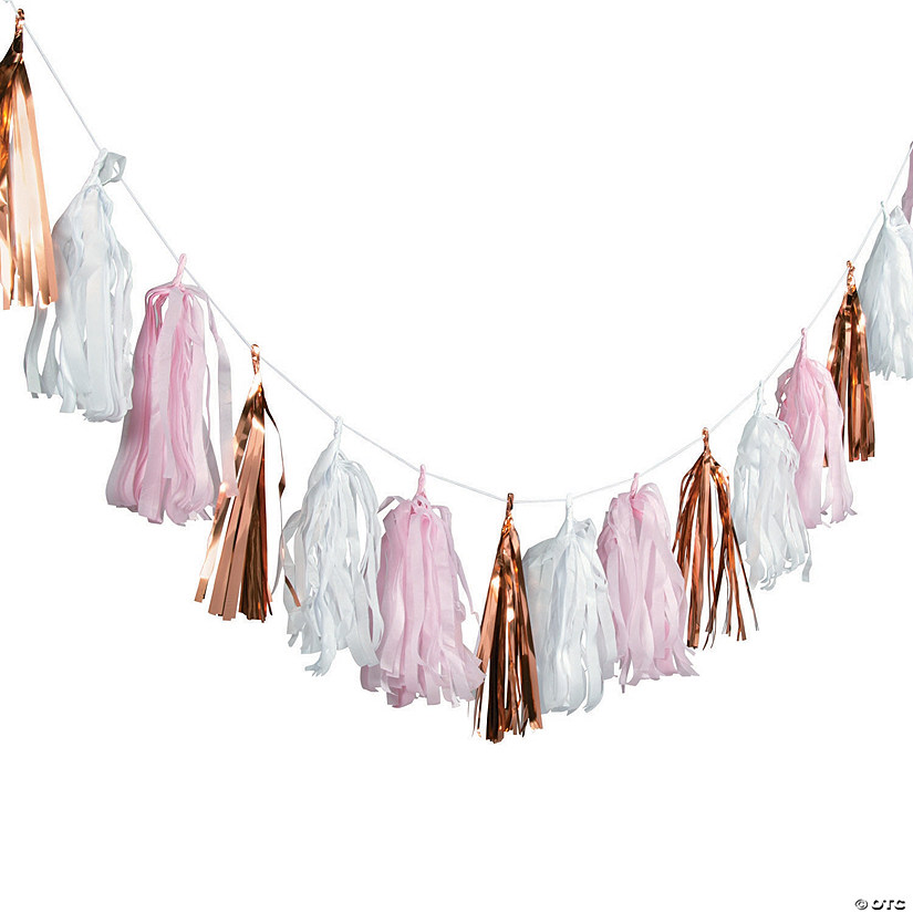 Blush & Rose Gold Tassel Garland Audio Thumbnail