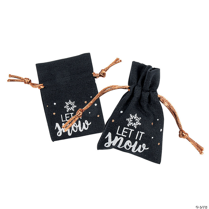 Bold Christmas Canvas Drawstring Treat Bags Image Thumbnail