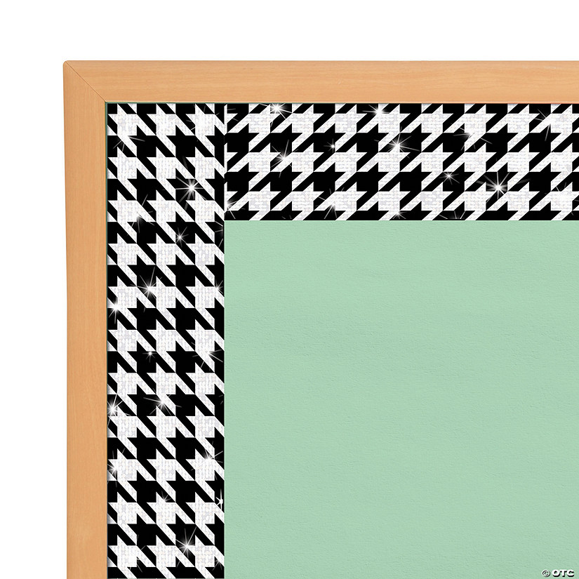 Bolder Borders<sup>&#174;</sup> Sparkle Plus Houndstooth Bulletin Board Borders Audio Thumbnail