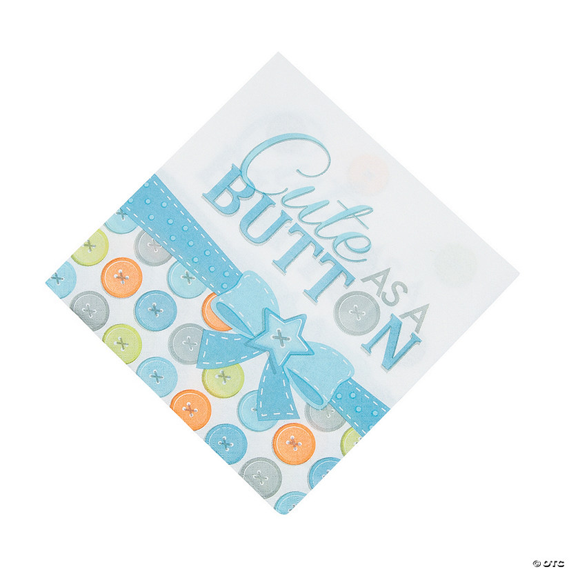 Boy Cute as a Button Luncheon Napkins