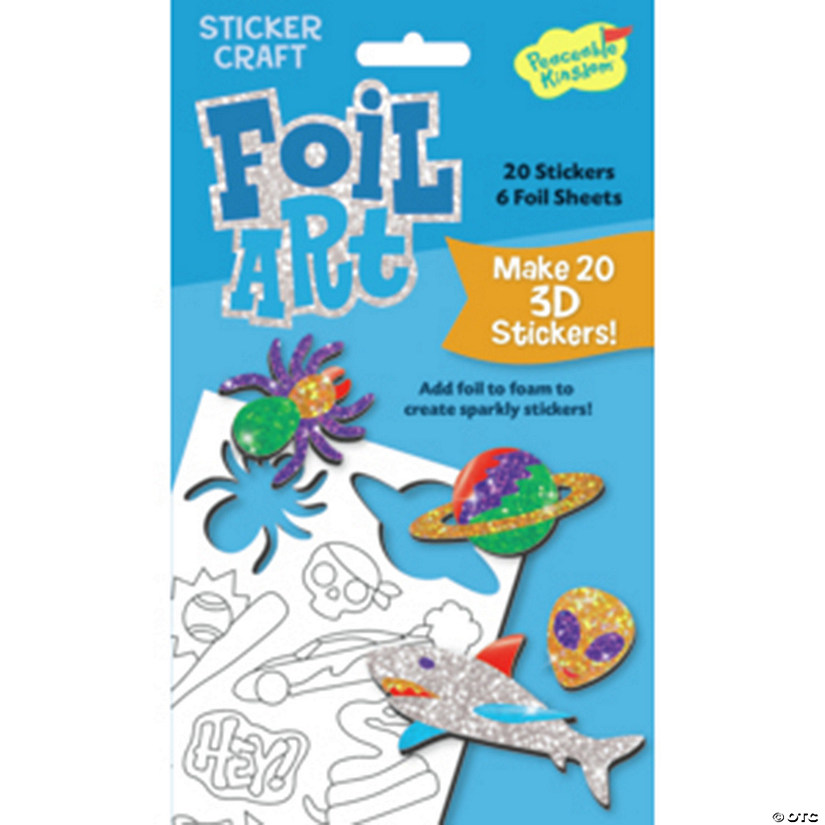 Boy Foil Art Sticker Pack