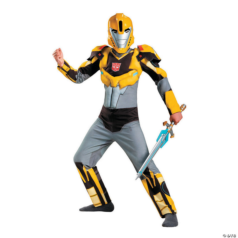 Boy's Classic Muscle Transformers Bumblebee Costume Audio Thumbnail