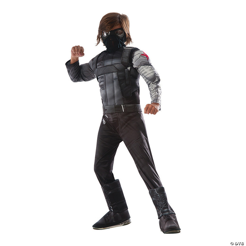 Boy's Deluxe Muscle Chest Captain America: Civil War™ Winter Soldier Costume