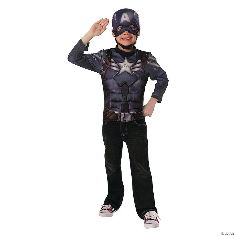 Boy's Muscle Chest Captain America™ Costume - Small Audio Thumbnail
