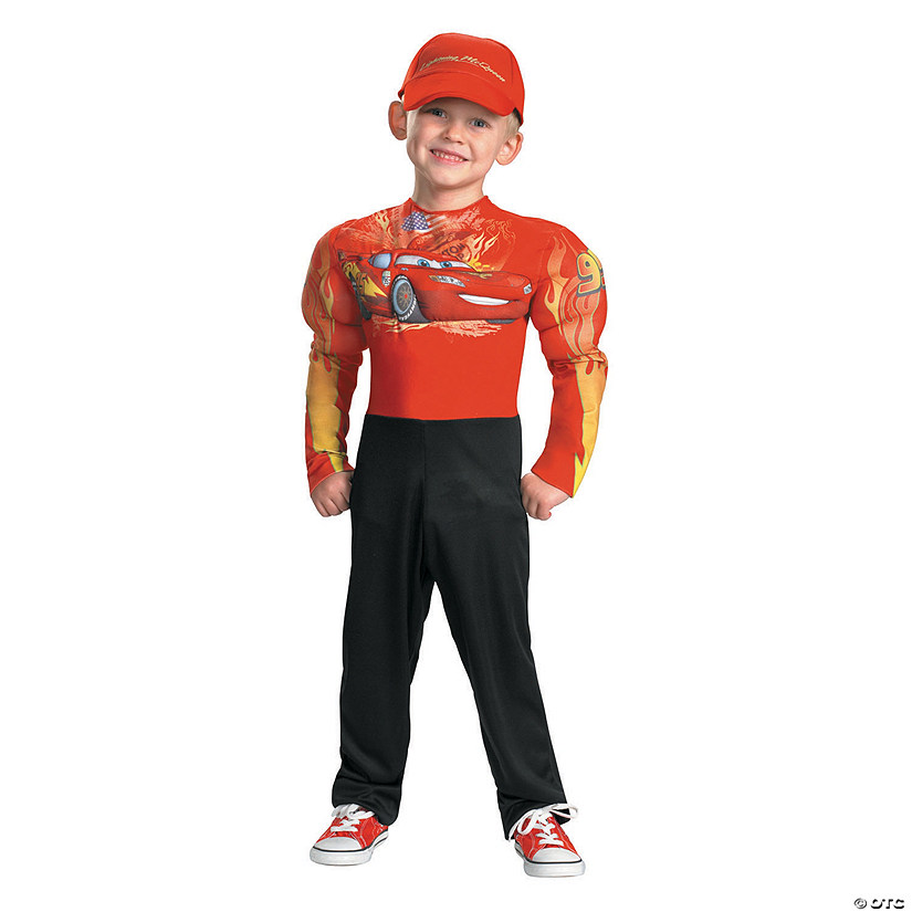 Boy's Muscle Chest Disney's Cars™ Lightning McQueen Costume Audio Thumbnail