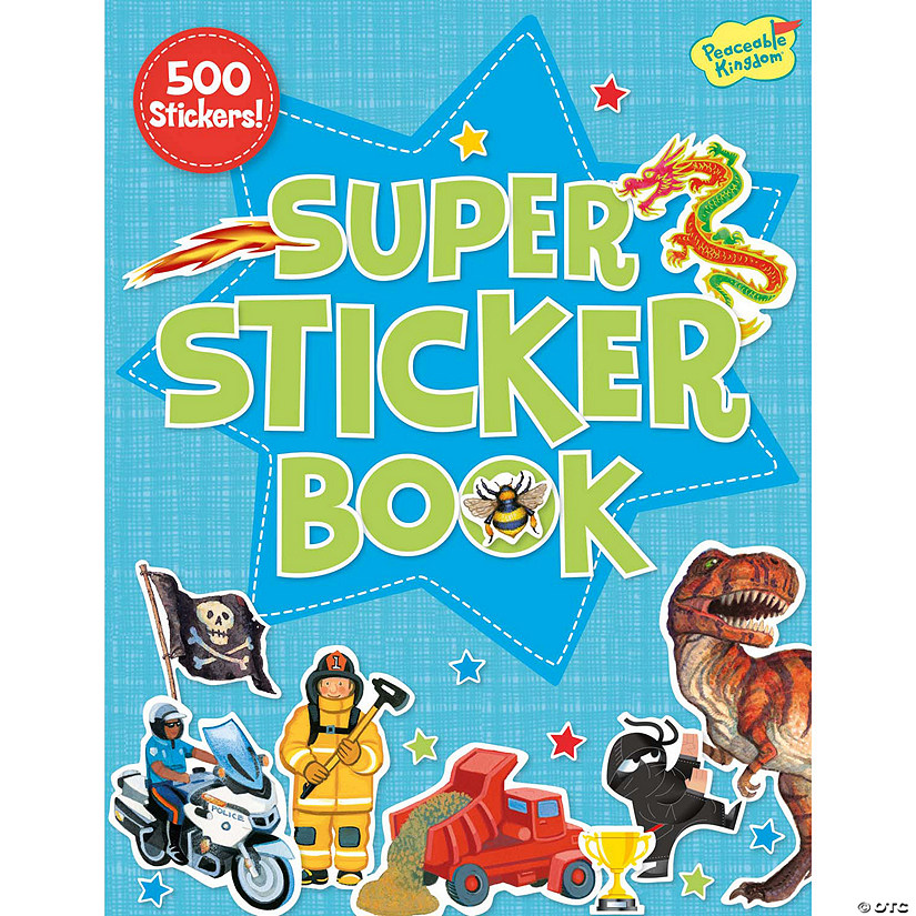 Boy Super Sticker Activity Book Image Thumbnail
