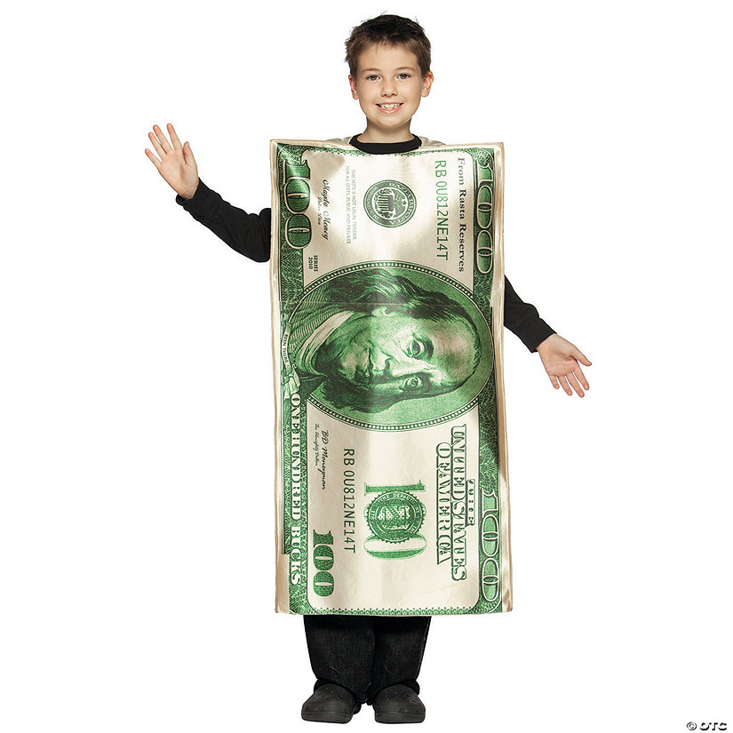 Boy's $100 Dollar Bill Costume - Medium Audio Thumbnail