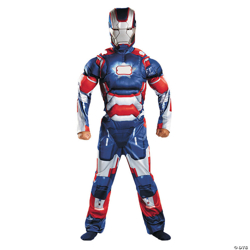 Boy's Classic Muscle Patriot Iron Man Costume - Medium