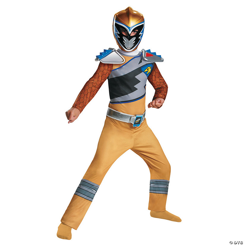 Boy's Classic Power Rangers Dino Gold Ranger Costume - Small Audio Thumbnail