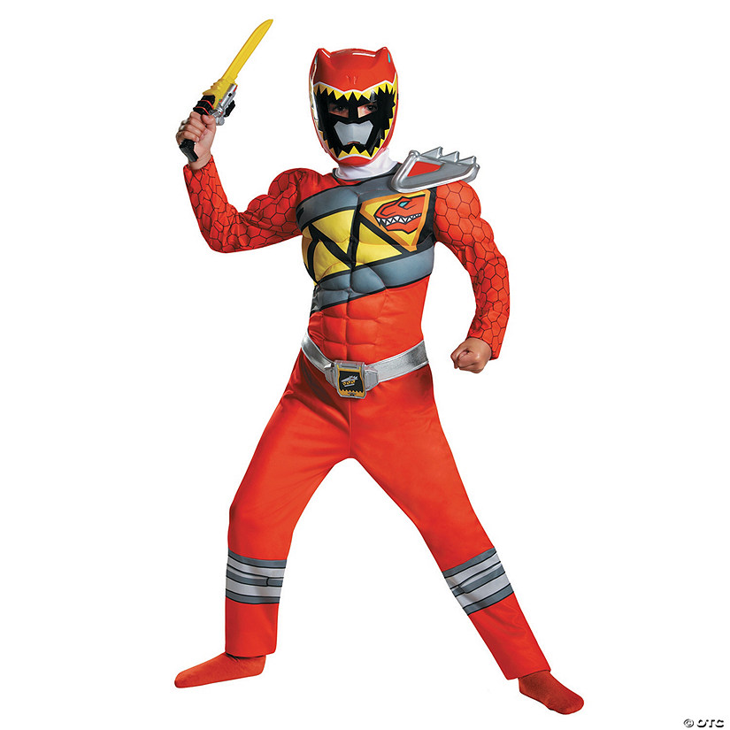 Boy's Classic Power Rangers Dino Red Ranger Costume - Small Audio Thumbnail