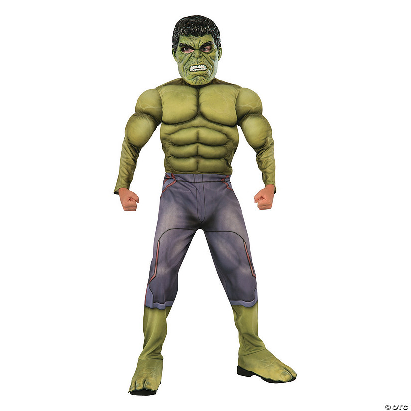 Boy's Deluxe Muscle Avengers 2™ Hulk Costume