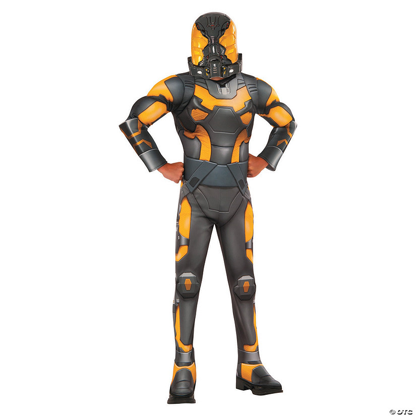 Boy's Deluxe Muscle Chest Ant-Man Yellow Jacket Costume
