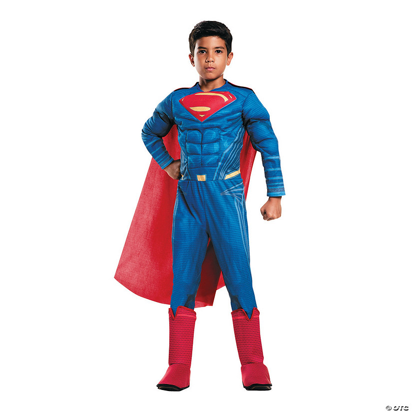 Boy's Deluxe Muscle Chest Batman v. Superman: Dawn of Justice™ Superman Costume Audio Thumbnail