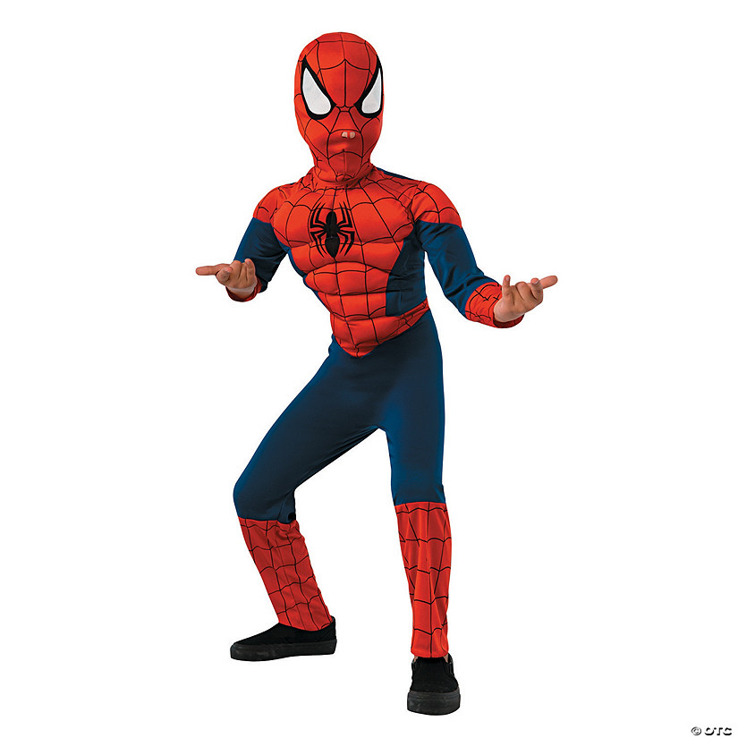 Boy's Deluxe Muscle Chest Spider-Man™ Halloween Costume