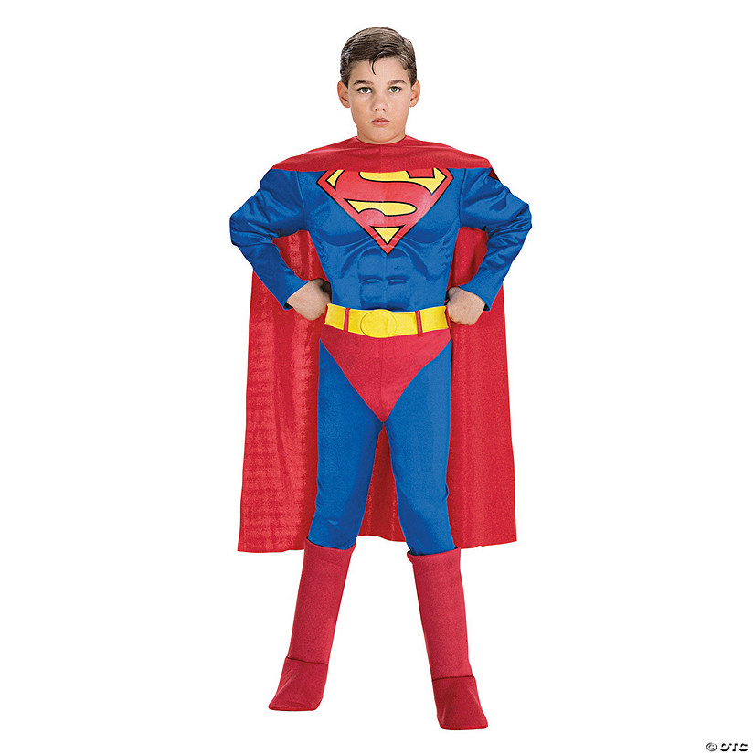 Boy's Deluxe Muscle Chest Superman Costume Audio Thumbnail