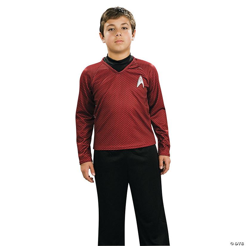 Boy S Deluxe Red Star Trek Uniform Costume
