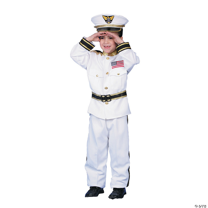 Boy's Navy Admiral Costume Audio Thumbnail