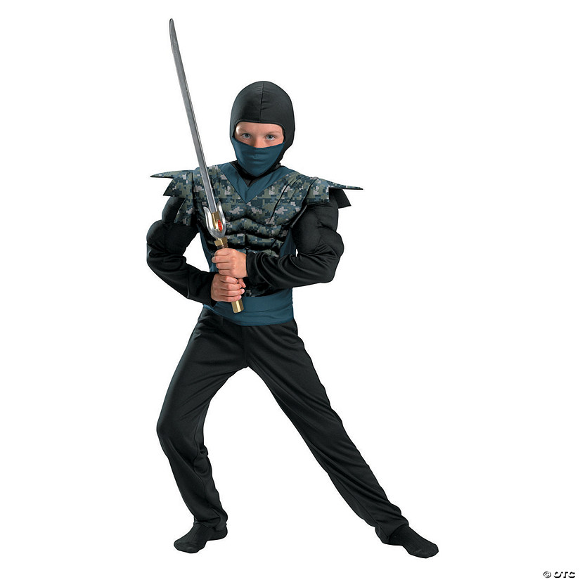 Boy's Night Camouflage Ninja Costume