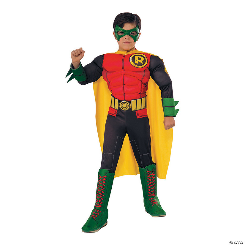 Boy's Photo Real Deluxe Muscle Chest Robin Costume Audio Thumbnail