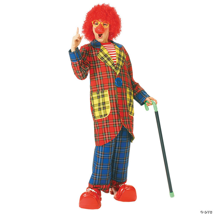 Boy's Plaid Pickles Clown Costume