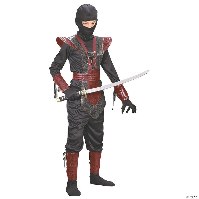 Boy's Red Leather Ninja Fighter Costume Audio Thumbnail