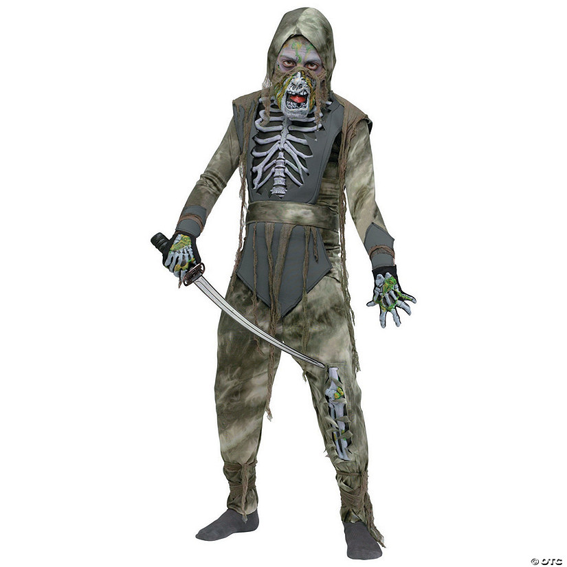 Boy's Rotting Zombie Ninja Costume