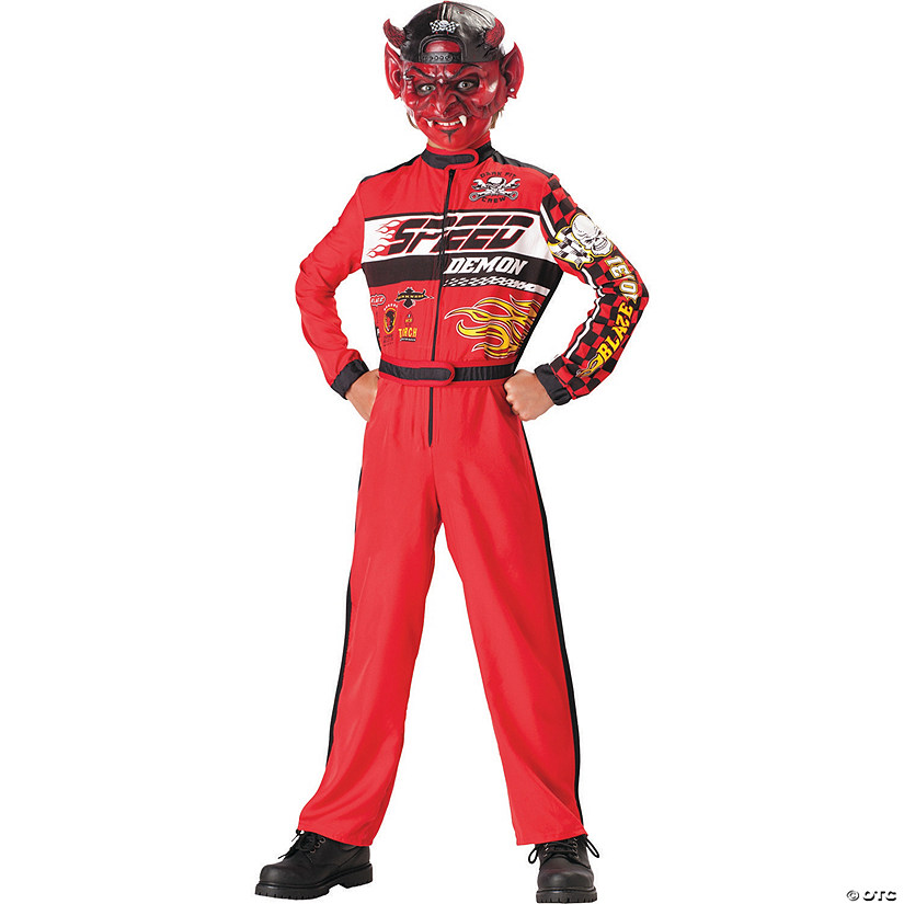 Boy's Speed Demon Race Car Driver Costume