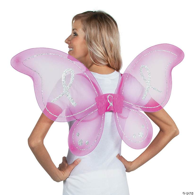 Breast Cancer Awareness Hot Pink Butterfly Wings