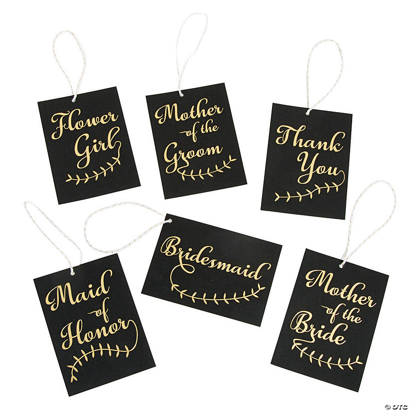 Bridal Party Gold Foil Favor Tags