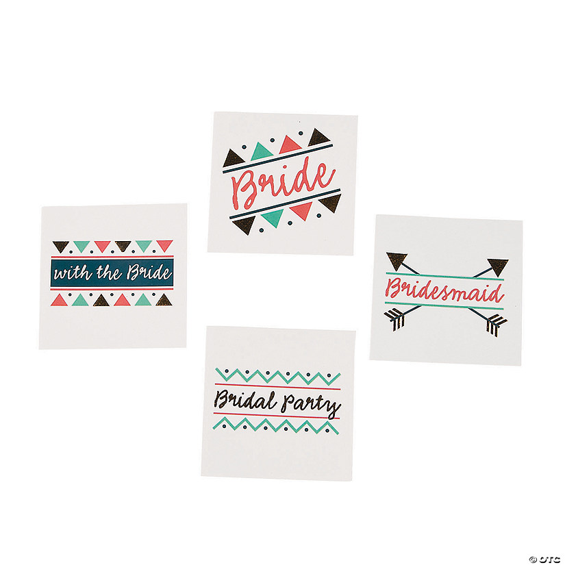Bridal Party Temporary Tattoos Image Thumbnail