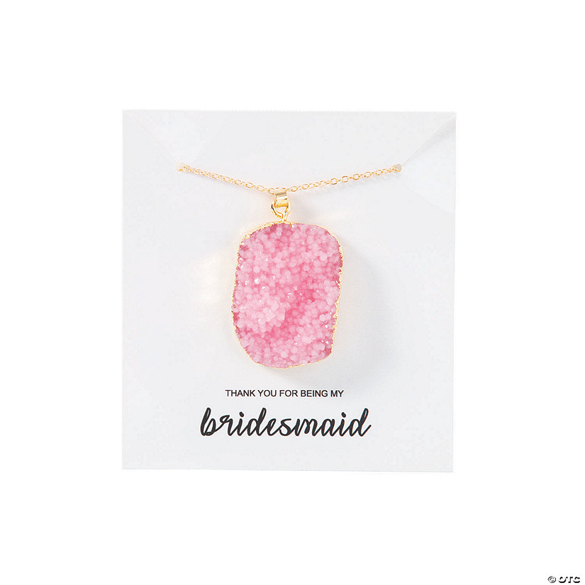 Bridesmaid Necklace on Card Image Thumbnail