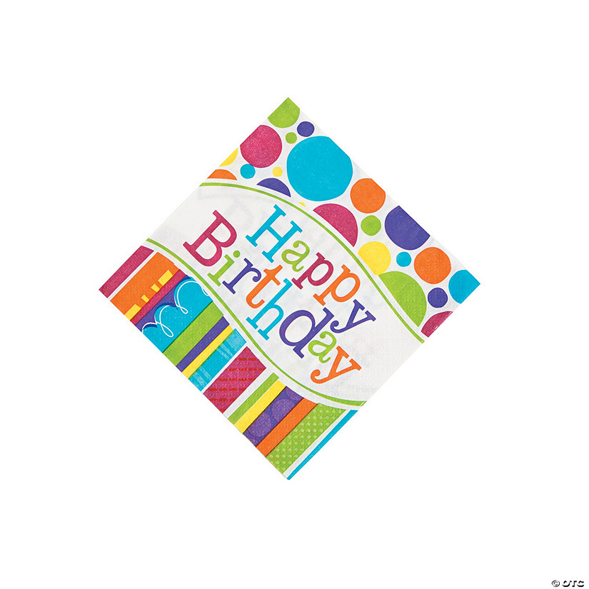 Bright & Bold Birthday Beverage Napkins