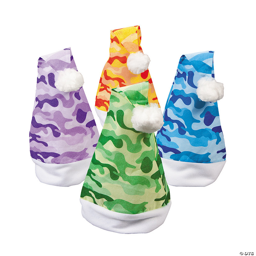 5da4d11850555 Bright Camouflage Santa Hats - Discontinued