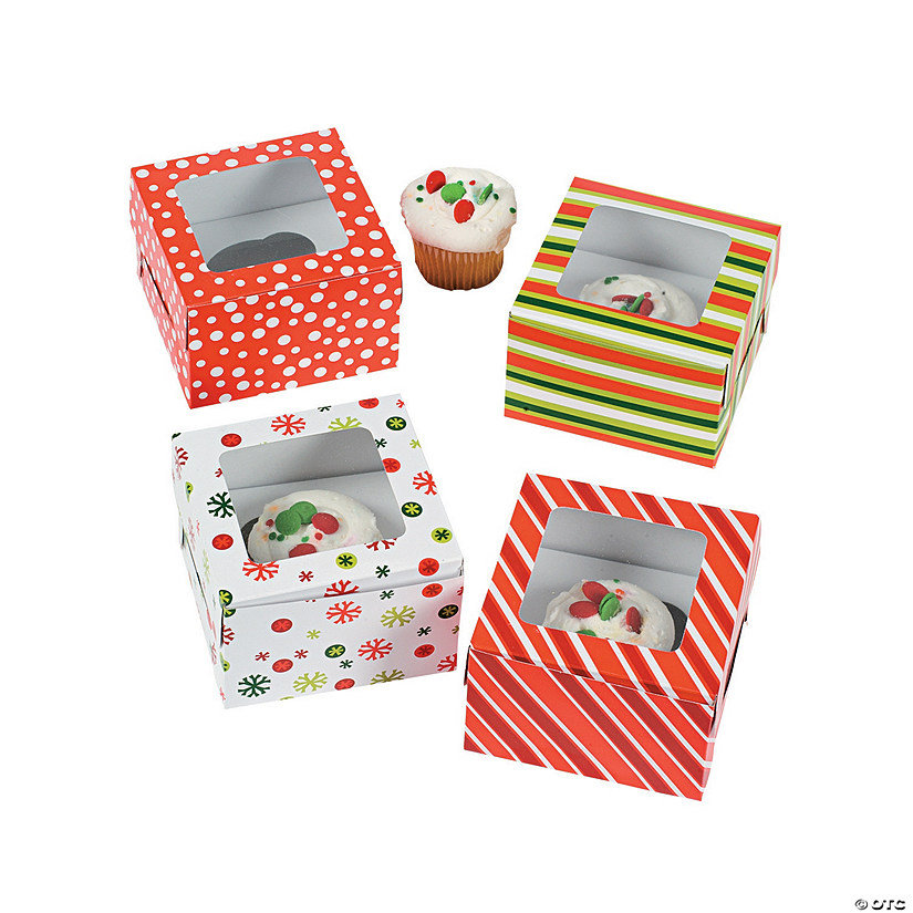 Bright Christmas Cupcake Boxes