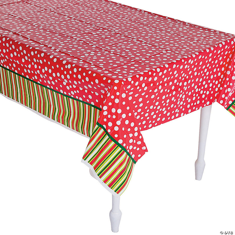 Bright Christmas Plastic Tablecloth