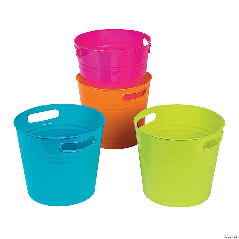 Bright Colorful Bucket Assortment Image Thumbnail